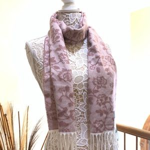 New cejon woman scarf rose garden pink